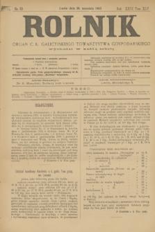 Rolnik : organ c. k. galicyjskiego Towarzystwa gospodarskiego. R.36, T.66 [!], Nr. 39 (26 września 1903)