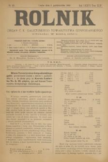 Rolnik : organ c. k. galicyjskiego Towarzystwa gospodarskiego. R.36, T.66 [!], Nr. 40 (3 października 1903)
