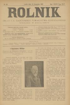 Rolnik : organ c. k. galicyjskiego Towarzystwa gospodarskiego. R.36, T.66 [!], Nr. 46 (14 listopada 1903)