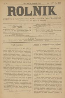 Rolnik : organ c. k. galicyjskiego Towarzystwa gospodarskiego. R.36, T.66 [!], Nr. 47 (21 listopada 1903)