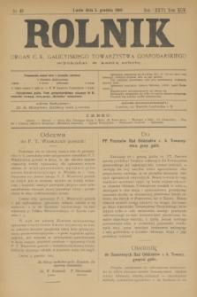 Rolnik : organ c. k. galicyjskiego Towarzystwa gospodarskiego. R.36, T.66 [!], Nr. 49 (5 grudnia 1903)