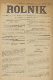 Rolnik : organ c. k. galicyjskiego Towarzystwa gospodarskiego. R.36, T.66 [!], Nr. 51 (19 grudnia 1903) + dod.