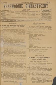 """Przewodnik Gimnastyczny """"Sokoł"""" : organ Związku Polskich Gimnast. Towarzystw Sokolich. R.19, nr 6 (czerwiec 1899)"""