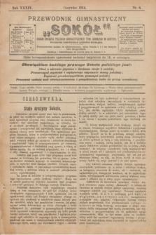 """Przewodnik Gimnastyczny """"Sokół"""" : organ Związku Polskich Gimnastycznych Tow. Sokolich w Austryi. R.34, nr 6 (czerwiec 1914)"""