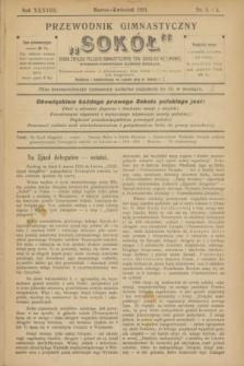 """Przewodnik Gimnastyczny """"Sokół"""" : organ Związku Polskich Gimnastycznych Tow. Sokolich we Lwowie. R.38, nr 3/4 (marzec/kwiecień 1921)"""