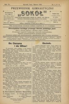 """Przewodnik Gimnastyczny """"Sokół"""" : organ Dzielnicy Małopolskiej Związku Pol. Gimnast. Tow. Sokolich. R.40, nr 1/2/3 (styczeń/luty/marzec 1923)"""