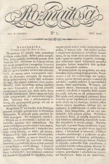 Rozmaitości : pismo dodatkowe do Gazety Lwowskiej. 1834, nr1
