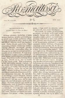 Rozmaitości : pismo dodatkowe do Gazety Lwowskiej. 1834, nr3