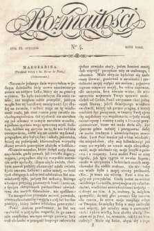 Rozmaitości : pismo dodatkowe do Gazety Lwowskiej. 1834, nr4