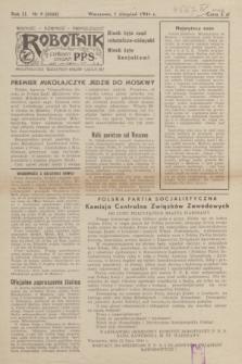 Robotnik : centralny organ P.P.S. R.51, nr 9 (1 sierpnia 1944) = nr 8068