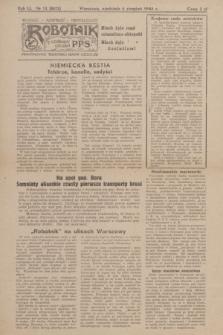Robotnik : centralny organ P.P.S. R.51, nr 13 (6 sierpnia 1944) = nr 8072