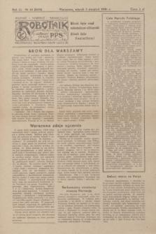 Robotnik : centralny organ PPS. R.51, nr 15 (8 sierpnia 1944) = nr 8074