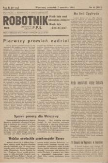 Robotnik : centralny organ PPS. R.51, nr 44 (7 września 1944) = nr 8013