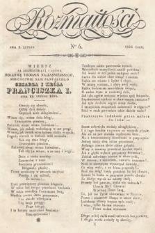 Rozmaitości : pismo dodatkowe do Gazety Lwowskiej. 1834, nr6