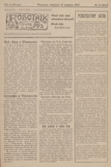 Robotnik : centralny organ PPS. R.51, nr 47 (10 września 1944) = nr 8016