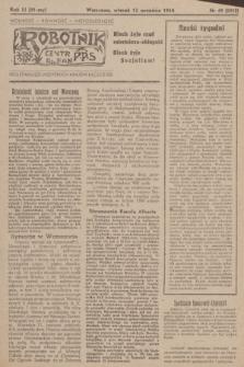 Robotnik : centralny organ PPS. R.51, nr 49 (12 września 1944) = nr 8018