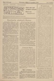 Robotnik : centralny organ PPS. R.51, nr 53 (16 września 1944) = nr 8022