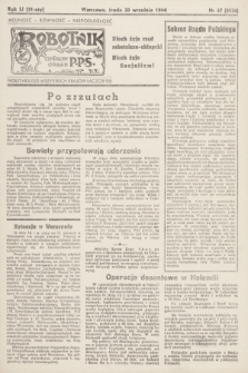 Robotnik : centralny organ PPS. R.51, nr 57 (20 września 1944) = nr 8026
