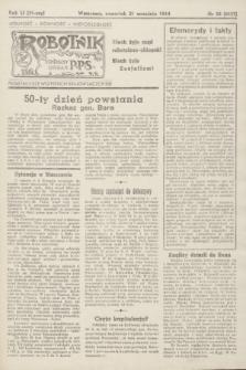 Robotnik : centralny organ P.P.S. R.51, nr 58 (21 września 1944) = nr 8027