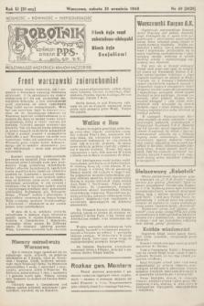 Robotnik : centralny organ PPS. R.51, nr 60 (23 września 1944) = nr 8029