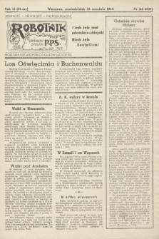 Robotnik : centralny organ PPS. R.51, nr 62 (25 września 1944) = nr 8031