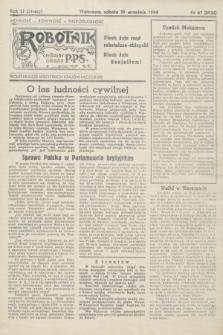 Robotnik : centralny organ PPS. R.51, nr 67 (30 września 1944) = nr 8036