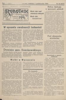 Robotnik : centralny organ PPS. R.51, nr 68 (1 października 1944) = nr 8037
