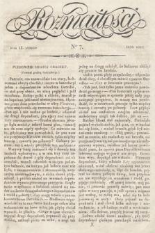 Rozmaitości : pismo dodatkowe do Gazety Lwowskiej. 1834, nr7
