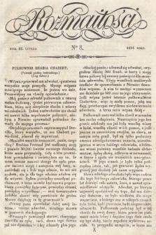 Rozmaitości : pismo dodatkowe do Gazety Lwowskiej. 1834, nr8