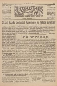 Robotnik : centralny organ P.P.S. R.51, nr 157 (23 czerwca 1945) = nr 187
