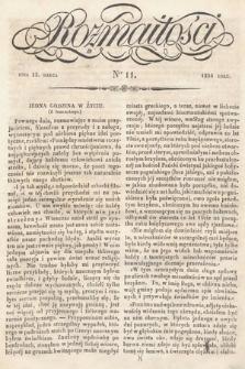 Rozmaitości : pismo dodatkowe do Gazety Lwowskiej. 1834, nr11