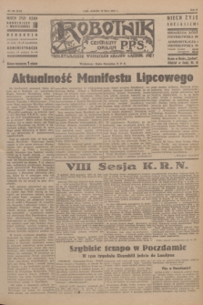 Robotnik : centralny organ P.P.S. R.51, nr 186 (22 lipca 1945) = nr 216
