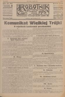 Robotnik : centralny organ P.P.S. R.51, nr 199 (4 sierpnia 1945) = nr 229