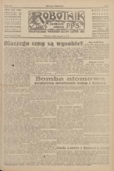 Robotnik : centralny organ P.P.S. R.51, nr 203 (8 sierpnia 1945) = nr 233