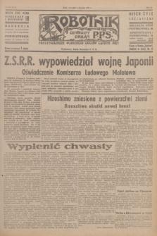 Robotnik : centralny organ P.P.S. R.51, nr 204 (9 sierpnia 1945) = nr 234