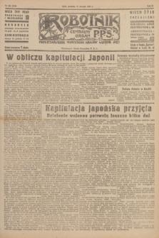 Robotnik : centralny organ P.P.S. R.51, nr 207 (12 sierpnia 1945) = nr 237