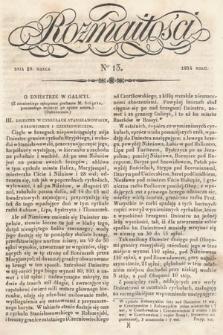 Rozmaitości : pismo dodatkowe do Gazety Lwowskiej. 1834, nr13