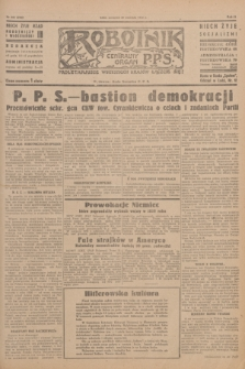 Robotnik : centralny organ P.P.S. R.51, nr 246 (20 września 1945) = nr 276