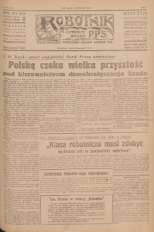 Robotnik : centralny organ P.P.S. R.51, nr 258 (2 października 1945) = nr 288