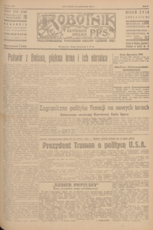 Robotnik : centralny organ P.P.S. R.51, nr 284 (28 października 1945) = nr 314