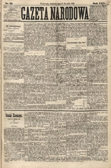 Gazeta Narodowa. 1883, nr22