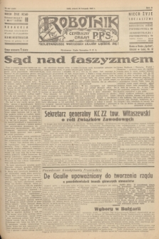 Robotnik : centralny organ P.P.S. R.51, nr 317 (20 listopada 1945) = nr 347