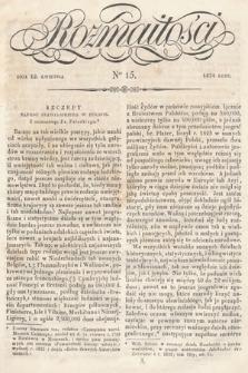 Rozmaitości : pismo dodatkowe do Gazety Lwowskiej. 1834, nr15