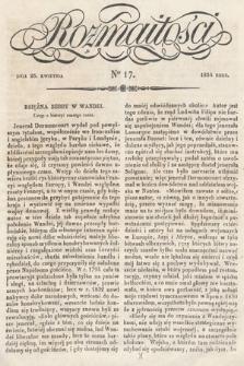 Rozmaitości : pismo dodatkowe do Gazety Lwowskiej. 1834, nr17