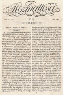 Rozmaitości : pismo dodatkowe do Gazety Lwowskiej. 1834, nr19