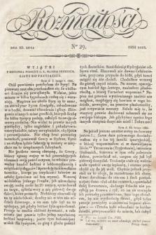 Rozmaitości : pismo dodatkowe do Gazety Lwowskiej. 1834, nr29