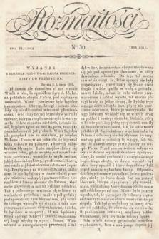 Rozmaitości : pismo dodatkowe do Gazety Lwowskiej. 1834, nr30