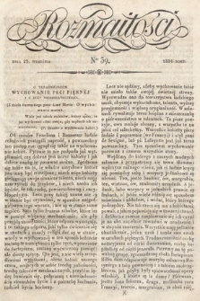 Rozmaitości : pismo dodatkowe do Gazety Lwowskiej. 1834, nr39