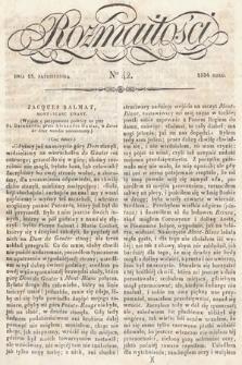 Rozmaitości : pismo dodatkowe do Gazety Lwowskiej. 1834, nr42