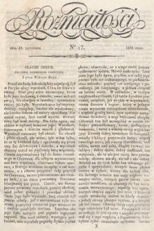 Rozmaitości : pismo dodatkowe do Gazety Lwowskiej. 1834, nr47